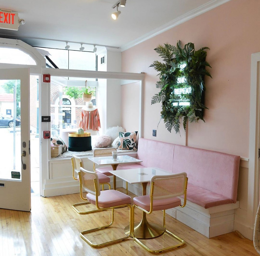 Pretty in Pink coffee shop