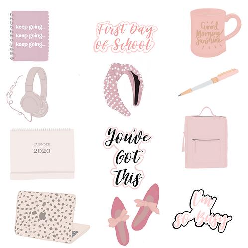 FREE Back To School Instagram Sticker Pack