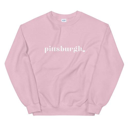 Pittsburgh Heart Sweatshirt (2 color ways)