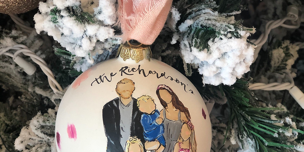 Hand Painted Ornament Pop-up