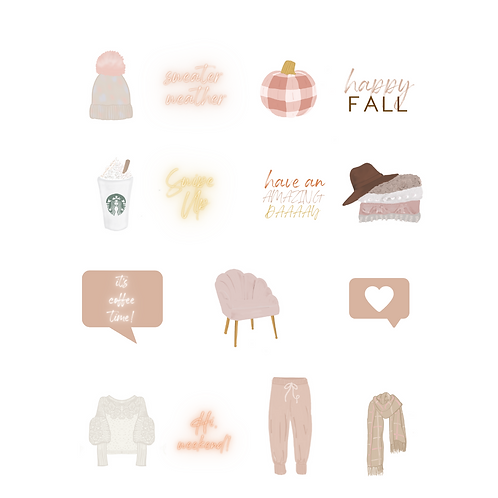 Fall Instagram Sticker Pack
