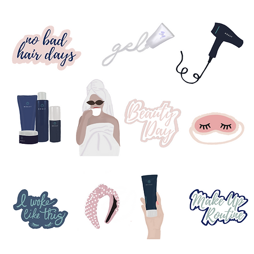 Monat Sticker Pack