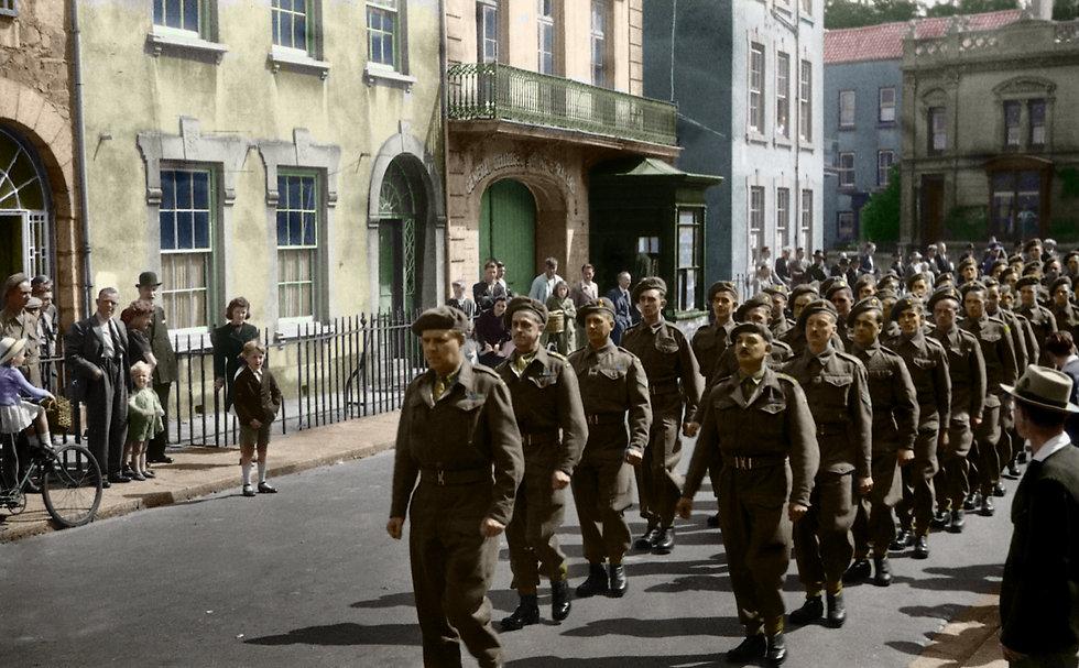 British Troops La Motte Street 1945 Colo