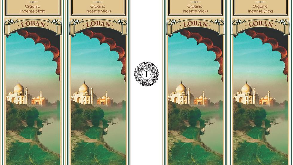 Loban : The IVAR House Blend Organic Incense Sticks Combo Packs of 4 x 75 GM