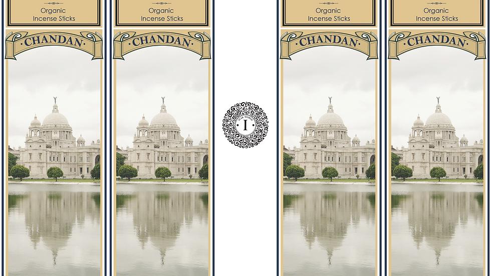 Chandan : The IVAR House Blend Organic Incense Sticks Combo Packs 4 x 75 GM