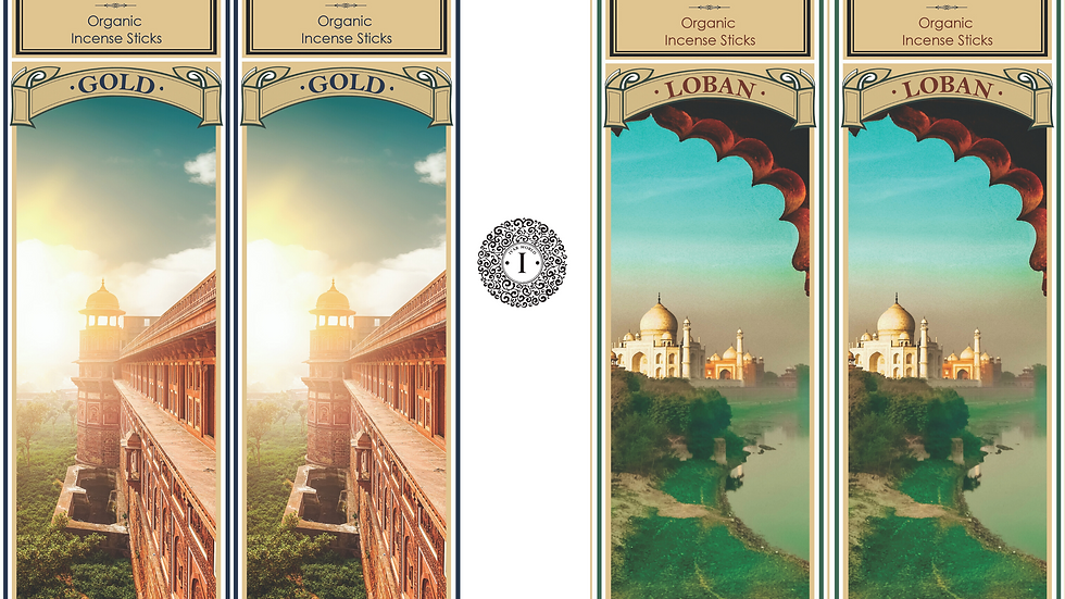 Gold and Loban : The IVAR House Blend Organic Incense Sticks Combo Packs