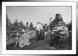 9 03 Peregrinos cantando salmos en geez Lalibela Etiopia 2016