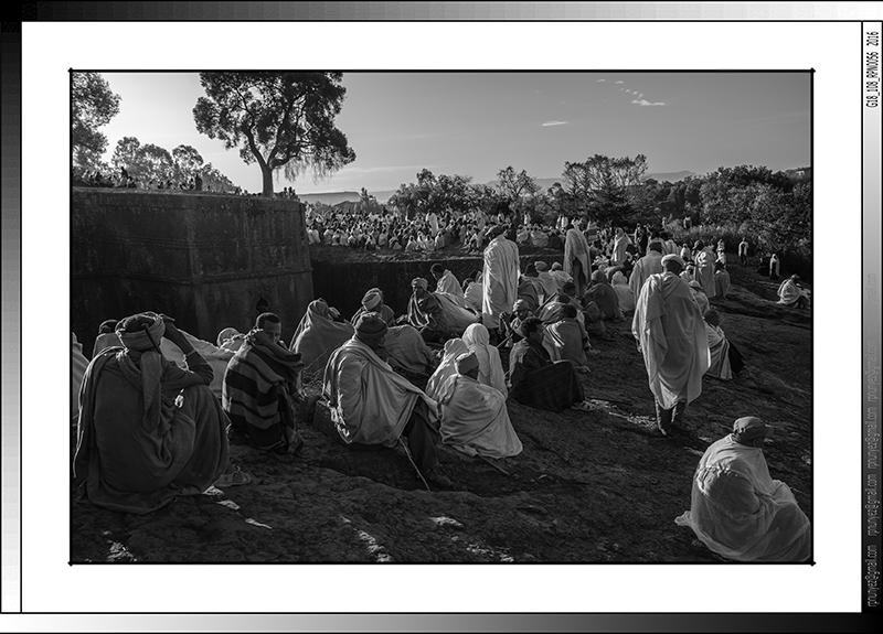9 04 Amanecer en Bete Giorgis  durante la Genna Lalibela Etiopia 2016