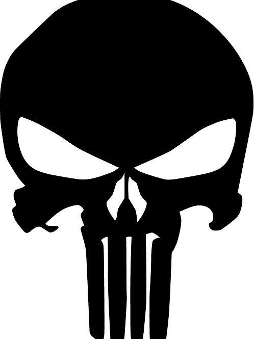 PUNISHER SKULL DECAL QTY 2