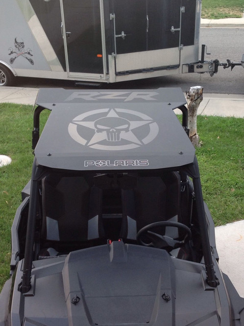 Polaris RZR Punisher Star Universal Roof Graphics For Your Polaris RZR.