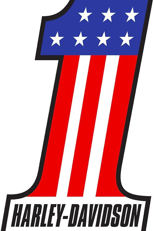 HARLEY DAVIDSON #1 AMERICAN FLAG DECAL