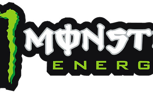 MONSTER ENERGY DRINK DECAL QTY 2