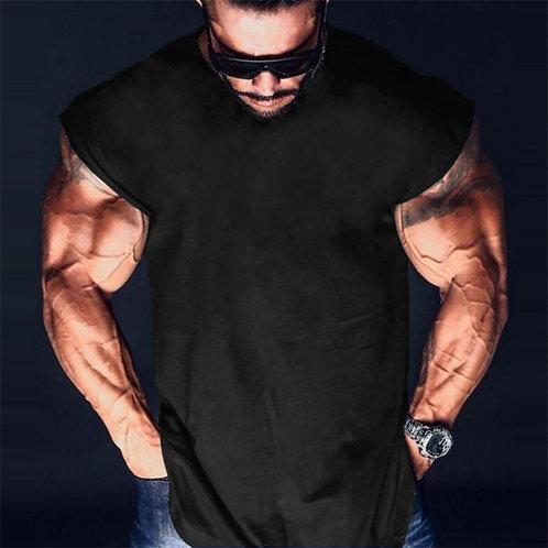 Brand Plain Cotton Bodybuilding Clothing Mens Fitness Tank Top