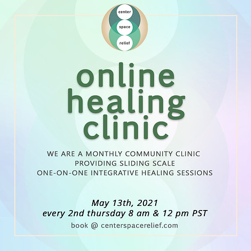 center/space/relief Online Healing Clinic