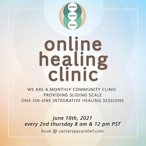 center/space/relief Online Healing Clinic - 💻 ONLINE