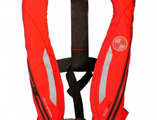 Kru Sport Midi Lifejacket (Auto)  RED