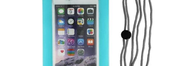 Waterproof Phone Case - Aqua (Large)