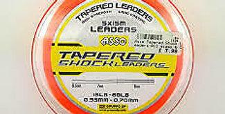 5 x Tapered Shock Leaders 15-50lb Orange x 15m