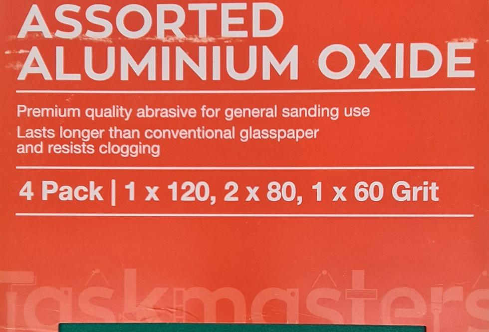 Assorted Aluminium Oxide Paper (4 Pack)
