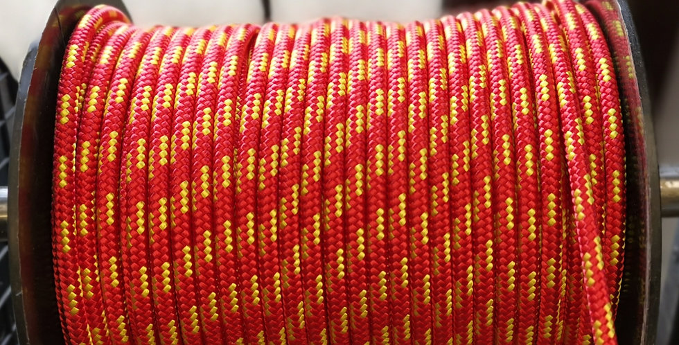6mm Dyneema Red with Yellow Fleck