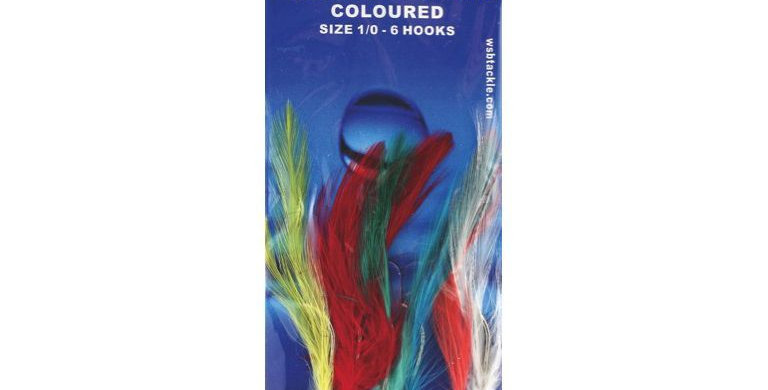 Mackerel Feathers (Coloured) 6 Hook