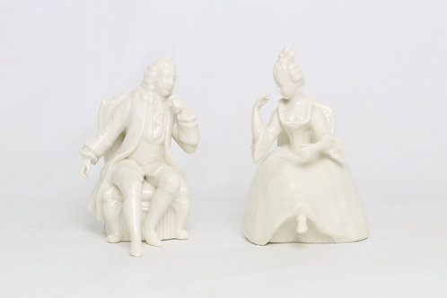 【白磁】古代男女ペアミ二