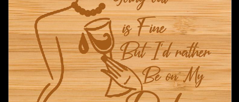 Wine Cutting Board