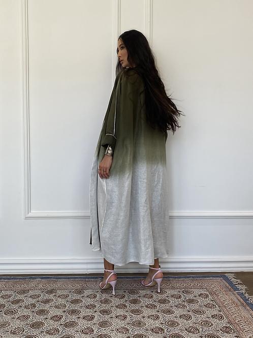Nayla, Reversible Ombré linen Abaya