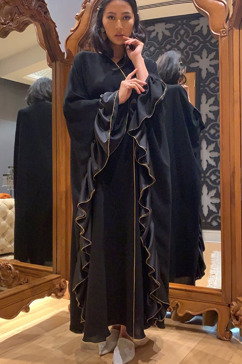 The Butterfly bisht with overlock