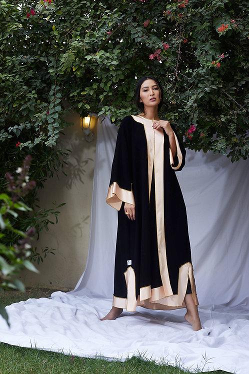 The Peach Silk A line Abaya