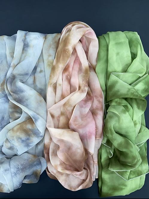 Tie dye silk shefon sheilah