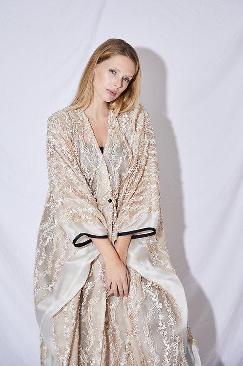 The beaded down dress
