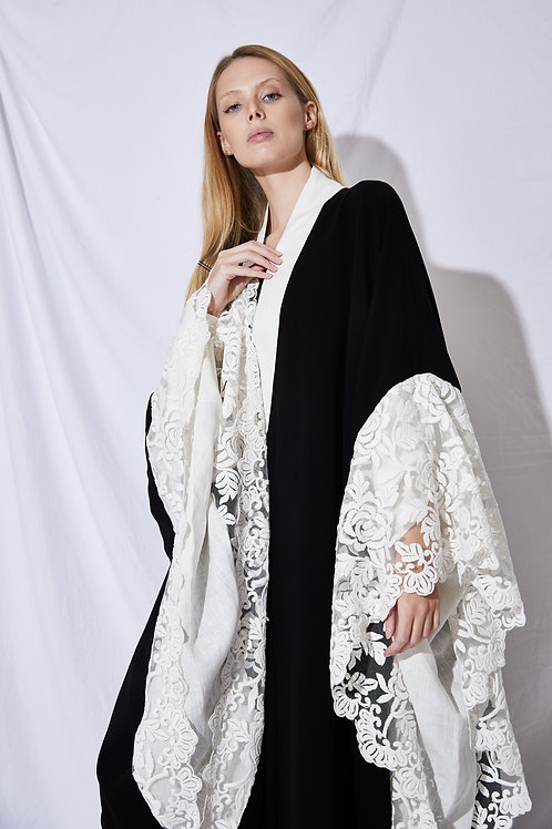 The white lace over sized sleeves