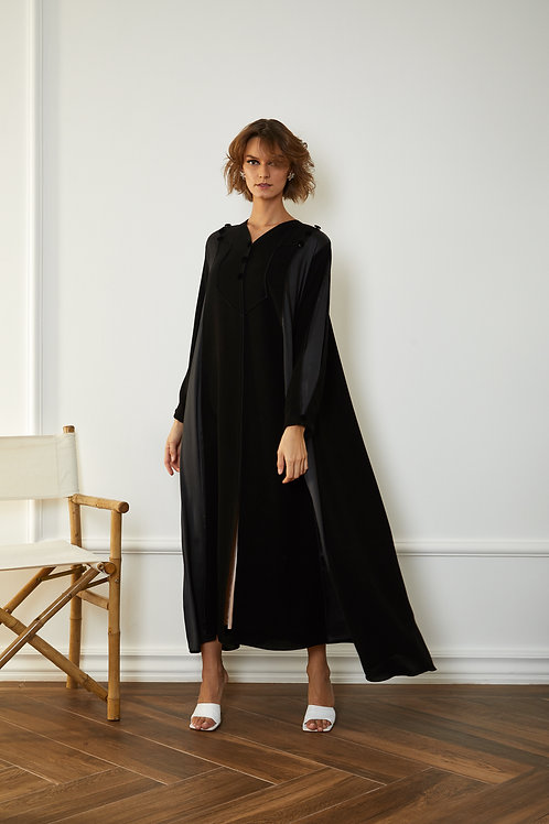The silk sides casual abaya