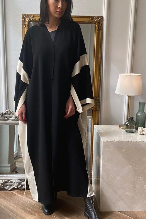 The silk trim box Abaya
