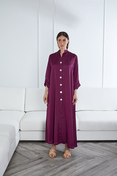 The silk shirt dress