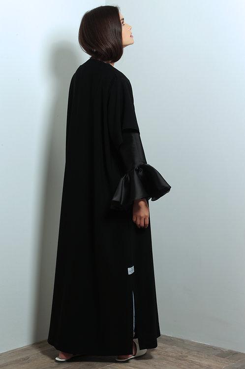 Organza sleeves Abaya