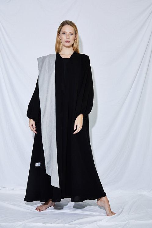 The Grey belt multi wear abaya