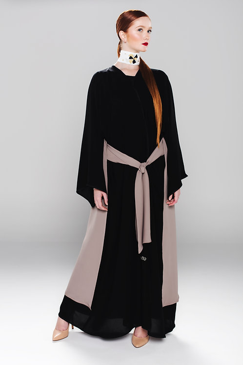 Light silk abaya with attached skirt