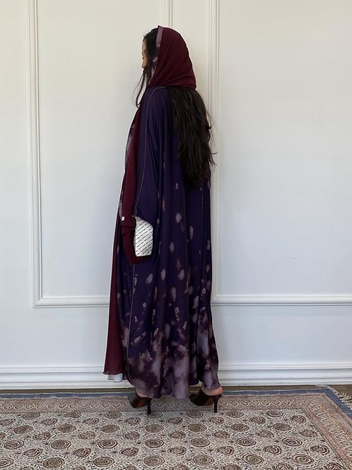 Purple Dye, reversible Abaya