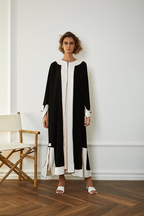 The White Morroco straight cut Abaya