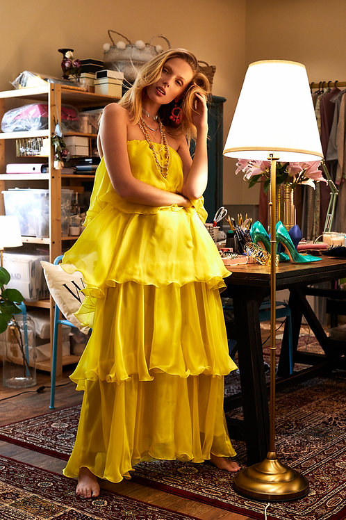 The yellow flake dress