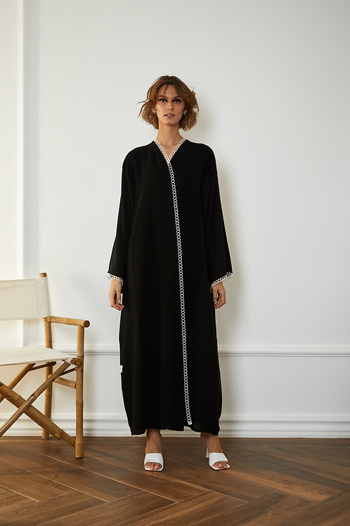 The lace trim Abaya