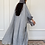 Thumbnail: Maria , Reversible Abaya in light grey