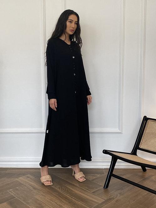 The double sleeve button down abaya