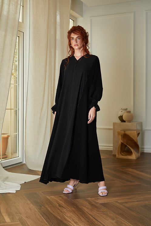 The black buttoned sleeves