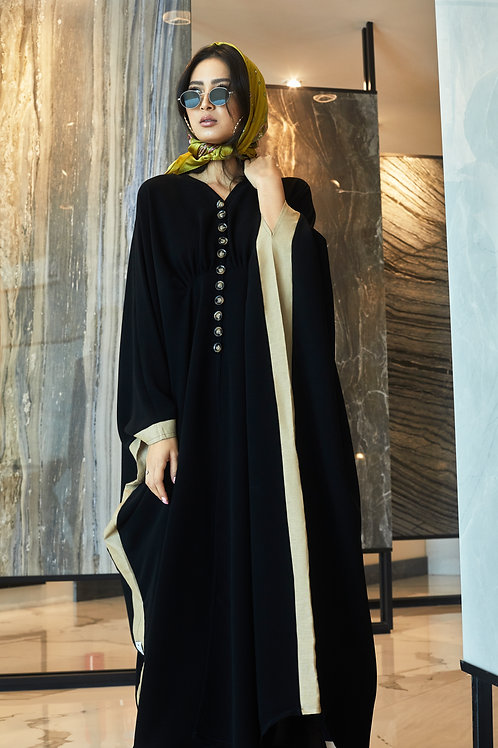 The button down cape with side details