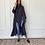 Thumbnail: Navy dye, reversible cotton and shefon abaya