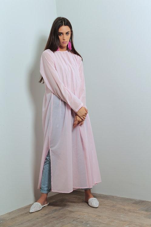 Pink light cotton summer dress