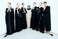 Waad with models in russia showcase